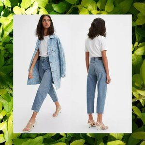 $168 NWT LEVI'S Blue Sustainable Mom's Jeans 27